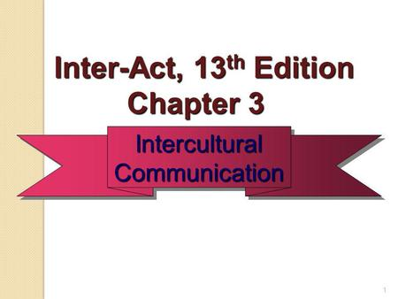 Inter-Act, 13th Edition Chapter 3