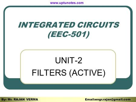 INTEGRATED CIRCUITS (EEC-501)