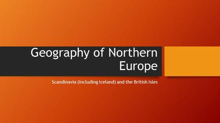 Geography of Northern Europe