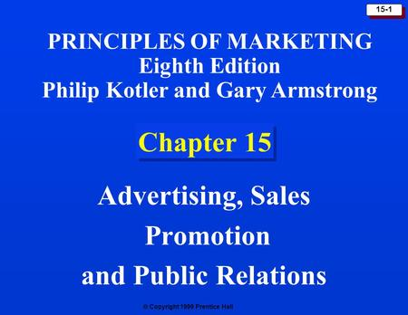 Advertising, Sales Promotion and Public Relations