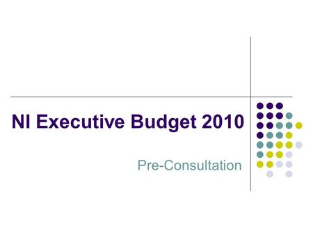 NI Executive Budget 2010 Pre-Consultation. Outline Background and Context UK Fiscal Position Implications for NI Budget Way Forward Key Questions.