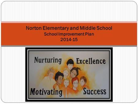 Norton Elementary and Middle School School Improvement Plan 2014-15.