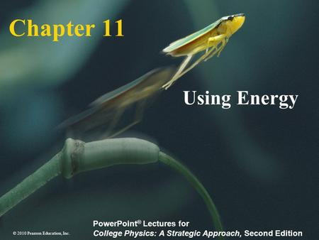Chapter 11 Using Energy.