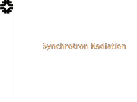 Eric Prebys, FNAL. USPAS, Knoxville, TN, Jan. 20-31, 2014 Lecture 13 - Synchrotron Radiation 2 For a relativistic particle, the total radiated power (S&E.