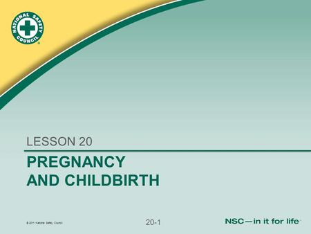 LESSON 20 PREGNANCY AND CHILDBIRTH.