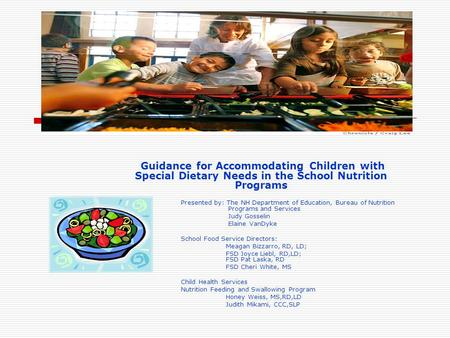Guidance for Accommodating Children with Special Dietary Needs in the School Nutrition Programs Presented by: The NH Department of Education, Bureau of.