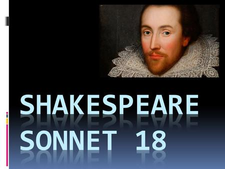 Shakespeare SONNET 18.