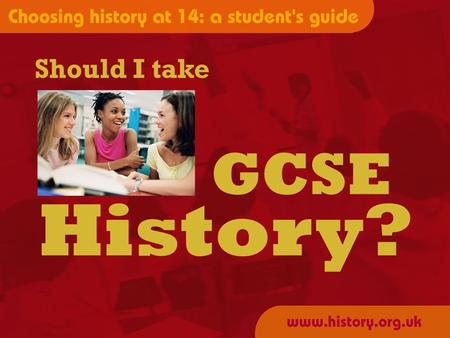 Should I take History? GCSE. SO, what exactly will you study???? USA 1919-41 BRITAIN 1945-75 THE COLD WAR THE INDIVIDUAL.