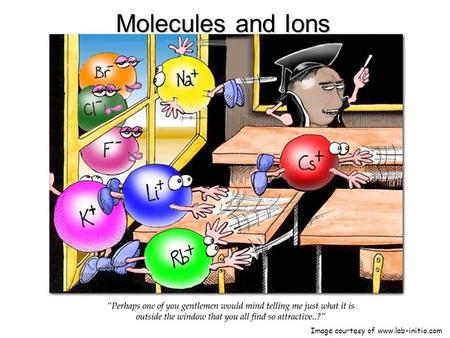 Molecules and Ions Image courtesy of www.lab-initio.com.