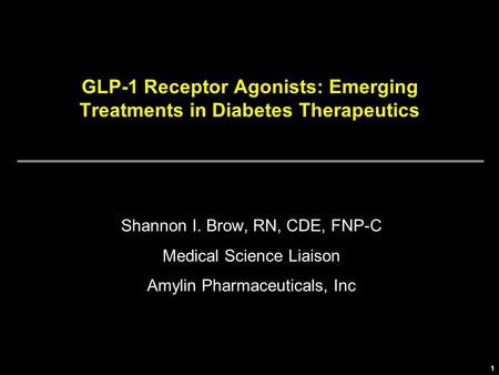 GLP-1 Receptor Agonists: Emerging Treatments in Diabetes Therapeutics
