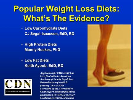 Popular Weight Loss <strong>Diets</strong>: What's The Evidence?