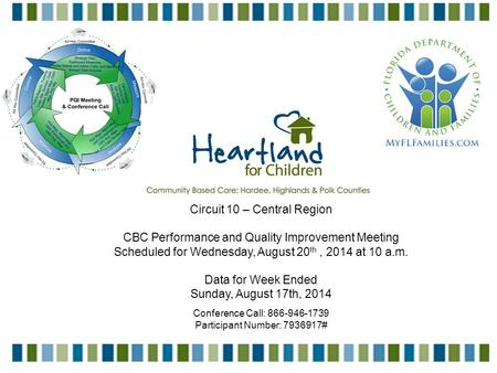 1 Circuit 10 – Central Region CBC Performance and Quality Improvement Meeting Scheduled for Wednesday, August 20 th, 2014 at 10 a.m. Data for Week Ended.