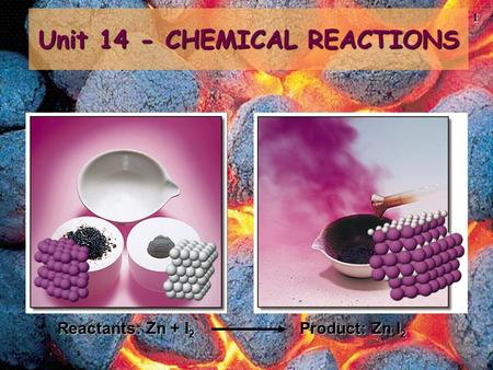 Unit 14 - CHEMICAL REACTIONS
