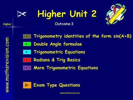 Higher Unit 2 Trigonometry identities of the form sin(A+B)