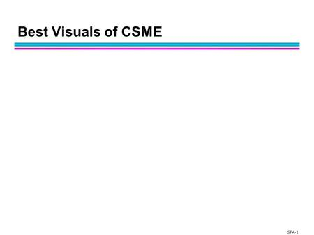 SFA-1 Best Visuals of CSME. SFA-2 Computational science challenges arise <strong>in</strong> a variety of applications l Computational science is emerging as its own discipline.