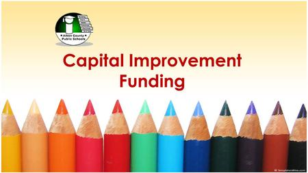 Capital Improvement Funding. State of the District Facilities 50% of Aiken County Public Schools are between 40 and 60 years old Leavelle McCampbell Middle.