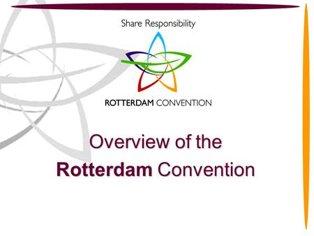 Overview of the Rotterdam Convention.