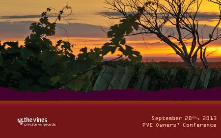 September 20 th, 2013 PVE Owners' Conference. How do I get my wines outside the U.S.? How The Vines can help Led by Pablo Giménez Riili.