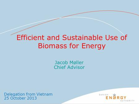 Efficient and Sustainable Use of Biomass for Energy