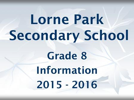 Lorne Park Secondary School