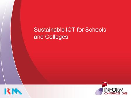 Sustainable ICT for Schools and Colleges