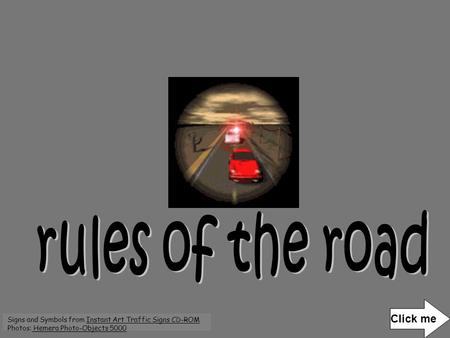 rules of the road Click me