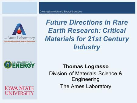 Division of Materials Science & Engineering
