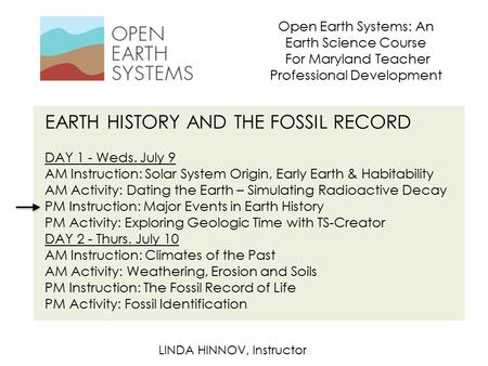 EARTH HISTORY <strong>AND</strong> THE FOSSIL RECORD