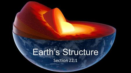Earth's Structure Section 22.1.