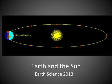 Earth and the Sun Earth Science 2013. Definition: The study of the ______, ______ and other objects in _____________.