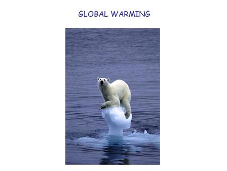 GLOBAL WARMING. IN GROUPS: EXAMINE EVIDENCE DECIDE ON RELEVANCE PREPARE EXPLANATION NOMINATE SPOKESPERSON.