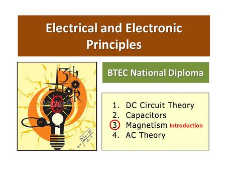 Electrical and Electronic Principles