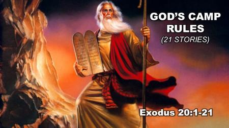 "Exodus 20:1-21 (NLT) Ten Commandments for the Covenant Community Then God gave the people all these instructions: 2 ""I am the L ORD your God, who rescued."