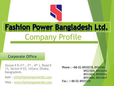 Fashion Power Bangladesh Ltd.