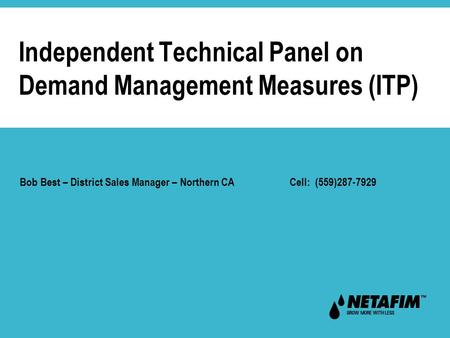 Independent Technical Panel on Demand Management Measures (ITP)