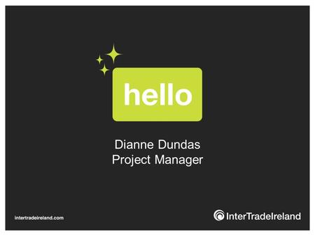 Dianne Dundas Project Manager. Who we are & what we do. We are the only organisation which has been tasked by both Governments to boost North/South economic.