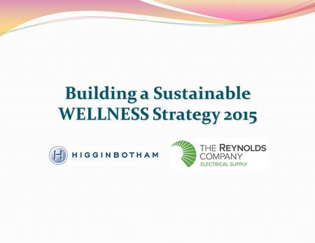 Building a Sustainable WELLNESS Strategy 2015. What is Wellness? active process awaremaking choices successful Wellness is an active process of becoming.