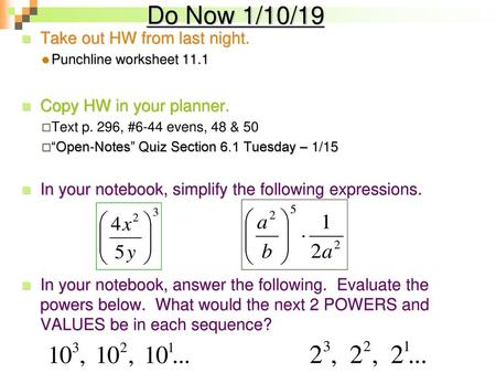 Objective Evaluate Expressions With Rational Exponents