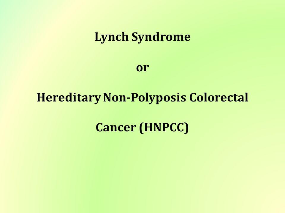 cancer colorectal nonpolyposis