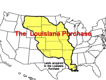 The Louisiana Purchase. Background Cont. After the U.S won its independence from Britain in 1783 a major concern became unrestricted access to the Mississippi.