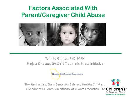 Factors Associated With Parent/Caregiver Child Abuse