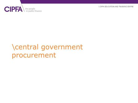 \central government procurement