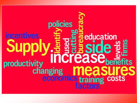 Supply Side policies. Supply side policies aim to… Improve the efficiency of factor markets, to boost productivity and hence the overall capacity of the.