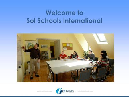Welcome to Sol Schools International.