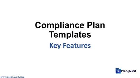 Compliance Plan Templates