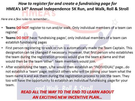 How to register for and create a fundraising page for