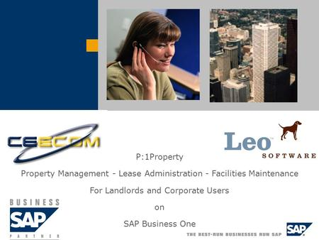 P:1Property Property Management - Lease Administration - Facilities Maintenance For Landlords and Corporate Users on SAP Business One.