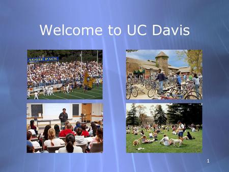 1 Welcome to UC Davis. 22 How Can I Miss You If You Won't Go Away Emil Rodolfa, Ph.D., Director Counseling and Psychological Services (CAPS)