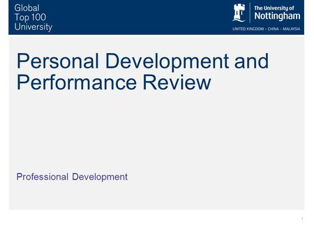 1 Personal Development and Performance Review Professional Development.
