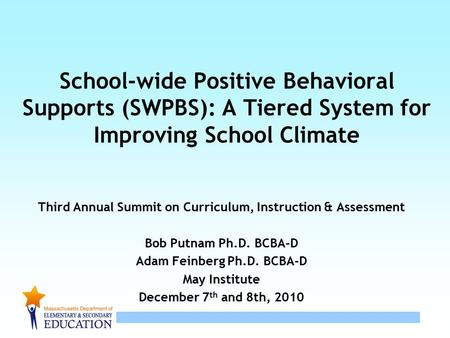 Third Annual Summit on Curriculum, Instruction & Assessment